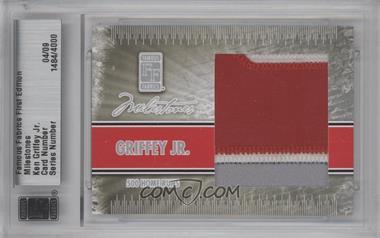 2010 Famous Fabrics First Edition Milestones Silver #N/A - Ken Griffey Jr. /9