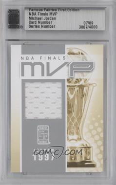 2010 Famous Fabrics First Edition NBA Finals MVP Silver #N/A - Michael Jordan /9