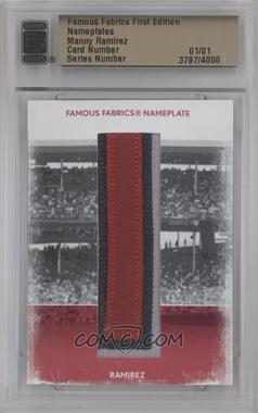 2010 Famous Fabrics First Edition Nameplates #N/A - Manny Ramirez /1