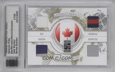 2010 Famous Fabrics First Edition National Pride Silver #01 - Jason Bay, Justin Morneau, Russell Martin, Ryan Dempster /9