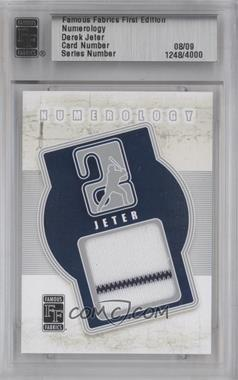 2010 Famous Fabrics First Edition Numerology Silver #1248 - Derek Jeter /9