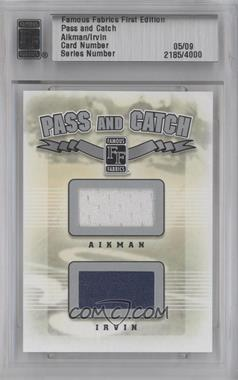 2010 Famous Fabrics First Edition Pass and Catch Silver #N/A - Troy Aikman, Michael Irvin /9