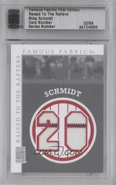 2010 Famous Fabrics First Edition Raised to the Rafters Silver #02 - Mike Schmidt /9