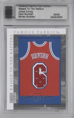 2010 Famous Fabrics First Edition Raised to the Rafters Silver #N/A - Julius Erving /9