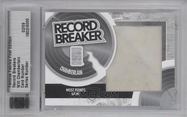 2010 Famous Fabrics First Edition Record Breakers Silver #1802 - Wilt Chamberlain /9