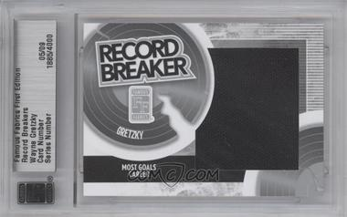 2010 Famous Fabrics First Edition Record Breakers Silver #1885 - Wayne Gretzky /9