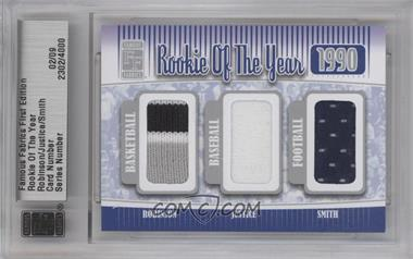 2010 Famous Fabrics First Edition Rookie of the Year Silver #2302 - David Robinson, David Justice, Emmitt Smith /9
