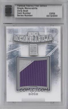 2010 Famous Fabrics First Edition Single Memorabilia Silver #N/A - Chris Bosh /9