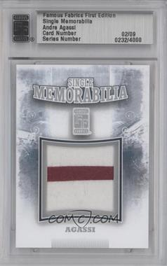 2010 Famous Fabrics First Edition Single Memorabilia Silver #N/A - [Missing] /9