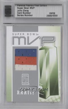 2010 Famous Fabrics First Edition Super Bowl MVP Silver #09 - John Elway /9