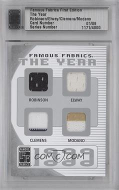 2010 Famous Fabrics First Edition The Year Silver #1171 - David Robinson, John Elway, Roger Clemens, Mike Modano /9
