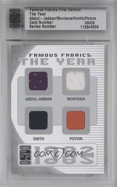2010 Famous Fabrics First Edition The Year Silver #N/A - Kareem Abdul-Jabbar, Joe Montana, Ozzie Smith, Denis Potvin /9