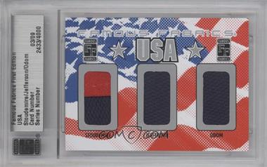 2010 Famous Fabrics First Edition USA Silver #2433 - Amare Stoudemire, Richard Jefferson, Lamar Odom /9