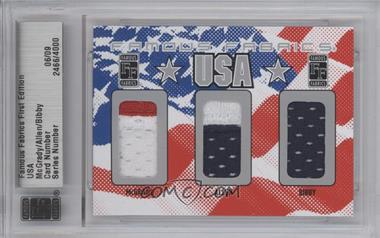 2010 Famous Fabrics First Edition USA Silver #N/A - Tracy McGrady, Ray Allen, Mike Bibby /9