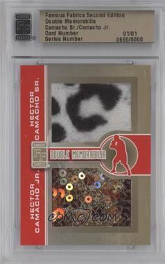 2010 Famous Fabrics Second Edition - Double Memorabilia - Gold #N/A - Hector Camacho Sr., Hector Camacho Jr. /1