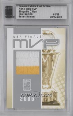 2010 Famous Fabrics Second Edition NBA Finals MVP Silver #SHON - Shaquille O'Neal /9