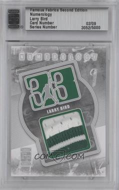 2010 Famous Fabrics Second Edition Numerology Silver #N/A - Larry Bird /9