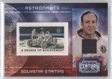 2010 Panini Century Collection - Souvenir Stamps Astronauts - 8 Cent Moon Rover Stamp Materials [Memorabilia] #2 - Edgar Mitchell /100