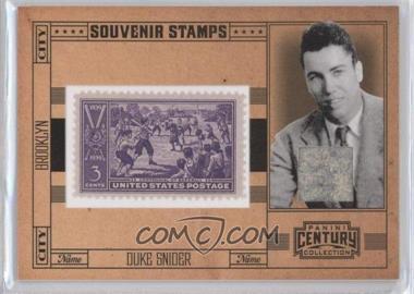 2010 Panini Century Collection - Souvenir Stamps Baseball - 3 Cent Centennial of Baseball Stamp Materials [Memorabilia] #8 - Duke Snider /22