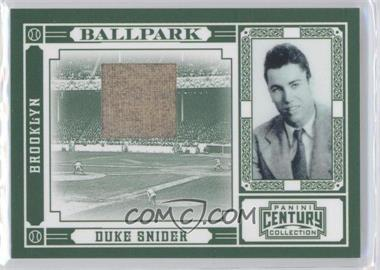 2010 Panini Century Collection Ballpark Materials [Memorabilia] #3 - Duke Snider /50
