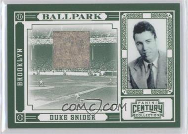 2010 Panini Century Collection Ballpark Materials [Memorabilia] #3 - Duke Snider /50