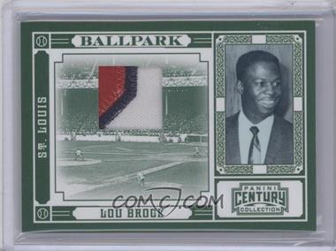2010 Panini Century Collection Ballpark Materials Prime [Memorabilia] #10 - Lou Brock /25