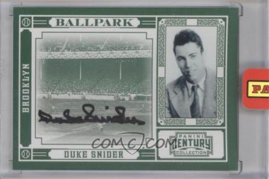 2010 Panini Century Collection Ballpark Signatures [Autographed] #3 - Duke Snider /10