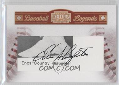 2010 Panini Century Collection Baseball Legends Souvenir Cuts Cut Signatures #18 - Enos Slaughter /52
