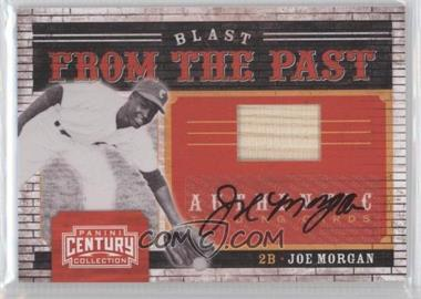 2010 Panini Century Collection Blast from the Past Materials Jerseys Signatures [Autographed] #20 - Joe Morgan /8
