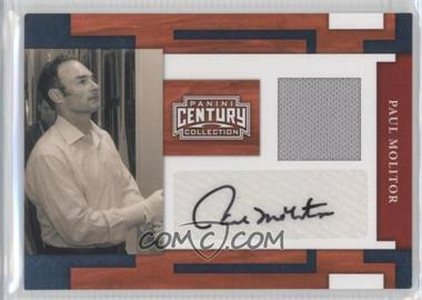 2010 Panini Century Collection Materials Jerseys Signatures [Autographed] [Memorabilia] #60 - Paul Molitor /15
