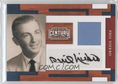 2010 Panini Century Collection Materials Jerseys Signatures [Autographed] [Memorabilia] #66 - Phil Niekro /25