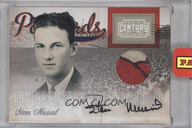 2010 Panini Century Collection Postcards Materials Signatures Prime #6 - Stan Musial /25