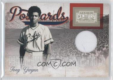 2010 Panini Century Collection Postcards Materials #16 - Tony Gwynn /250