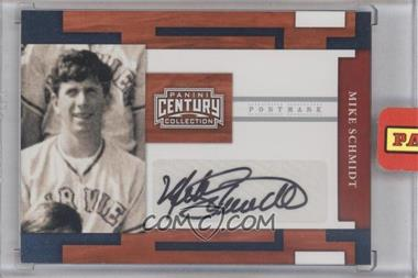 2010 Panini Century Collection Postmark Signatures Silver #85 - Mike Schmidt /25