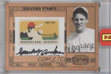2010 Panini Century Collection Souvenir Stamps Baseball 6 Cent Professional Baseball 1869-1969 Stamp Signatures [Autographed] #58 - Sparky Anderson /25