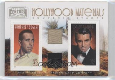 2010 Panini Century Collection Souvenir Stamps Hollywood Combos Two Subjects Two Stamps Materials [Memorabilia] #8 - Cary Grant, Humphrey Bogart /250