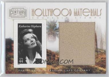 2010 Panini Century Collection Souvenir Stamps Hollywood Materials Jumbo #37 - Katharine Hepburn /25