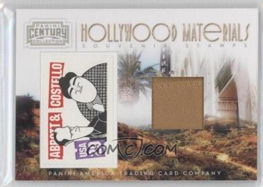 2010 Panini Century Collection Souvenir Stamps Hollywood Materials #23 - Lou Costello /25