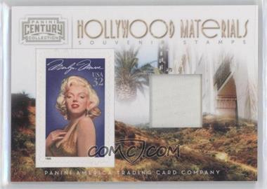 2010 Panini Century Collection Souvenir Stamps Hollywood Materials #25 - Marilyn Monroe /250