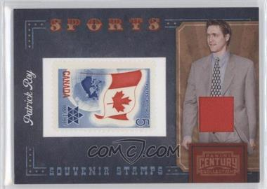 2010 Panini Century Collection Souvenir Stamps Sports Version 1 Materials [Memorabilia] #19 - Patrick Roy /250