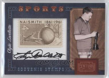 2010 Panini Century Collection Souvenir Stamps Sports Version 1 Signatures [Autographed] #31 - Clyde Lovellette /75