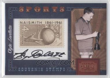 2010 Panini Century Collection Souvenir Stamps Sports Version 1 Signatures [Autographed] #31 - Clyde Lovellette /75