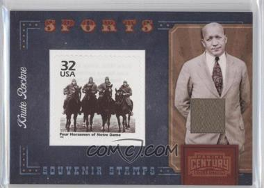 2010 Panini Century Collection Souvenir Stamps Sports Version 2 Materials [Memorabilia] #6 - Knute Rockne /250
