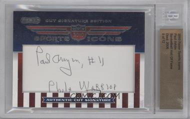 2010 Razor Sports Icons Cut Signature Edition Authentic Cut Signature #PAAR - Paul Arizin /12