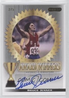 2010 Razor Sports Icons Cut Signature Edition Award Winners Silver #AW-1 - Bruce Jenner /5