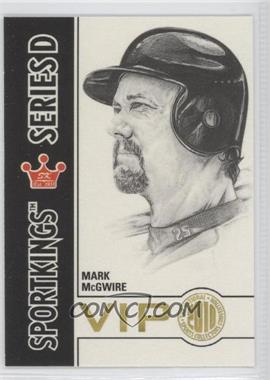 2010 Sportkings National Convention VIP Series D #VIP-16 - Mark McGwire