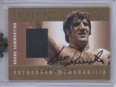 2010 Sportkings Series D - Autograph - Memorabilia - Gold #AM-BSAM1 - Bruno Sammartino