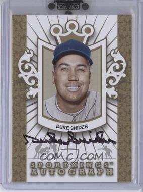 2010 Sportkings Series D - Autographs - Gold #A-DSN1 - Duke Snider