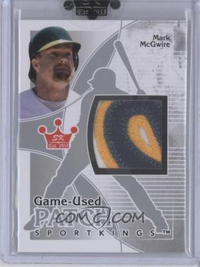 2010 Sportkings Series D - Game-Used Patch - Silver #P-03 - Mark McGwire /20