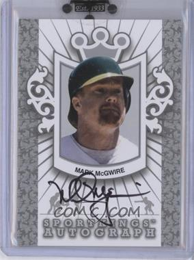 2010 Sportkings Series D Autographs Silver #A-2 - Mark McGwire